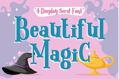 Beautiful Magic - 4 Display Serif Font