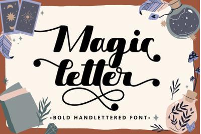 Magic Letter - Bold Hand-lettered Font