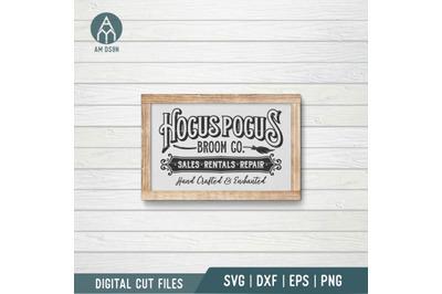 Hocus Pocus Broom Co svg, Hocus Pocus svg, Halloween svg cut file