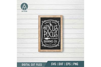 Hocus Pocus Broom Company svg, Hocus Pocus svg, Halloween svg cut file