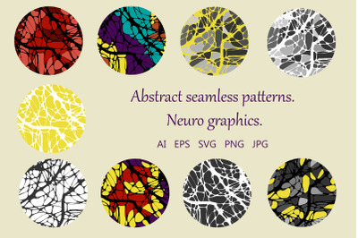 Abstract seamless patterns. Neuro-graphics.