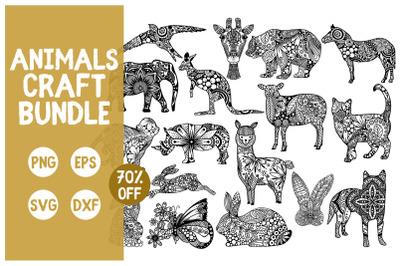 Animals Mandala Craft Bundle