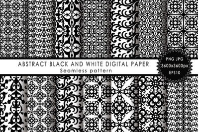 Abstract black and white digital paper