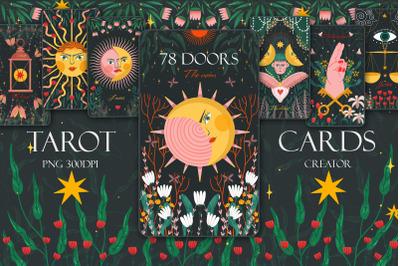 Tarot cards. Major and minor arcana