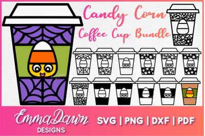 CANDY CORN COFFEE CUP SVG BUNDLE 14 Designs