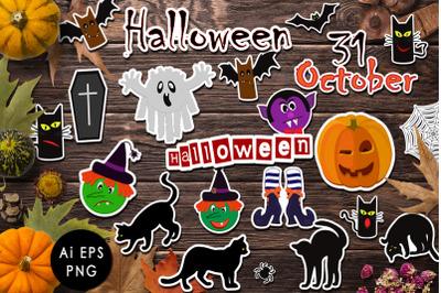 Halloween sticker collection