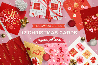 12 Christmas Greeting Cards