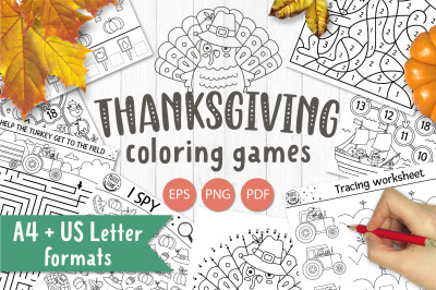 Thanksgiving coloring games