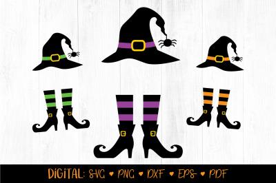 Witch Monogram SVG, Halloween Svg, Halloween Monogram