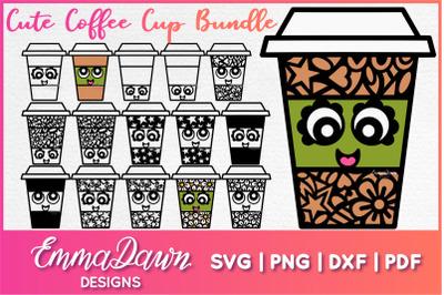 CUTE COFFEE CUP SVG BUNDLE 16 Mandala Zentangle Designs