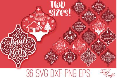 Arabesque Christmas Quotes SVG Bundle