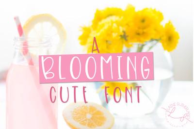 Blooming Handwritten Font