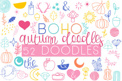 Boho Autumn Doodles Font