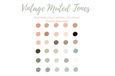 Vintage Muted Tones Palette for Procreate