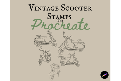 Vintage Scooter Stamps for Procreate