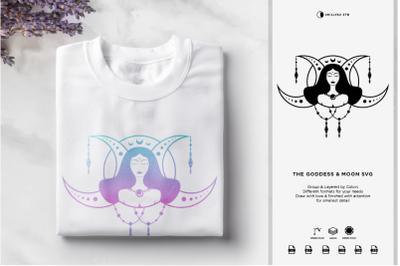 The Goddess & Moon SVG | Halloween SVG