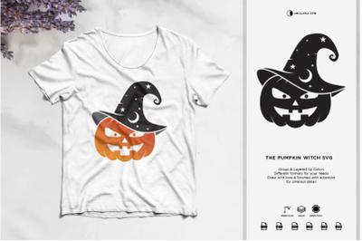 The Pumpkin Witch SVG | Halloween SVG