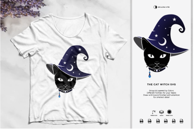 The Cat Witch SVG | Halloween SVG