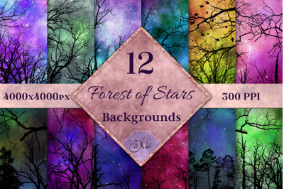 Forest of Stars Backgrounds - 12 Images