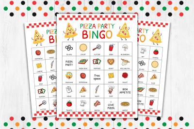 Pizza Bingo, Pizza Game, Bingo