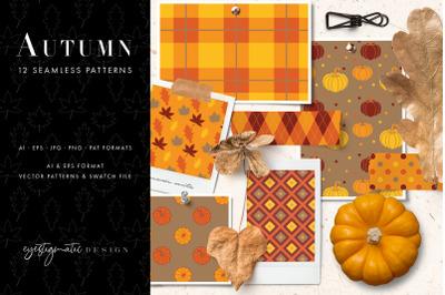 12 Seamless Autumn Patterns - Set 1