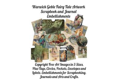 Warwick Goble Fairies Journal&2F; Scrapbook Embellishments