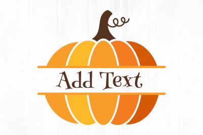 Pumpkin Split Monogram SVG, Pumpkin svg, Halloween
