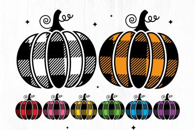 Buffalo Plaid Pumpkin SVG, Pumpkin SVG, Halloween Svg, Fall svg