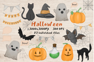Watercolor clipart Halloween.Day of the dead illustration