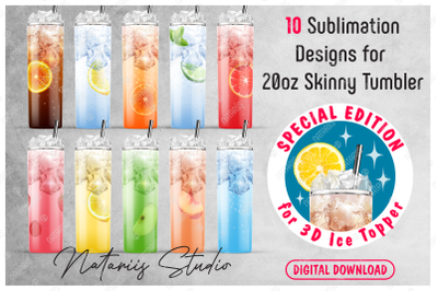NEW 10 Realistic Drink Patterns for 20oz SKINNY TUMBLER.