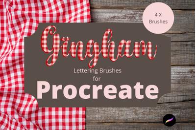 Gingham Procreate Lettering Brushes X 4