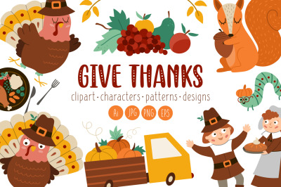 Give Thanks. Thanksgiving pack