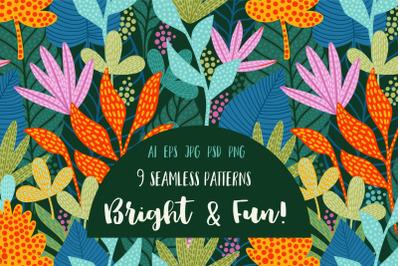 Bright & Fun! 9 patterns.