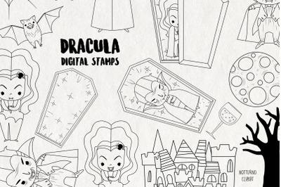 Dracula SVG Stamps   Set of 26