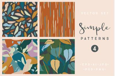 Simple patterns.Vector set. 4 prints