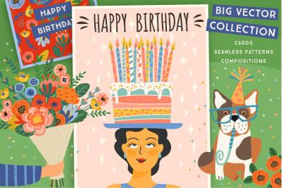 Happy Birthday! Big vector collection