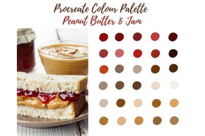 Peanut Butter and Jam Procreate Palette/Swatch