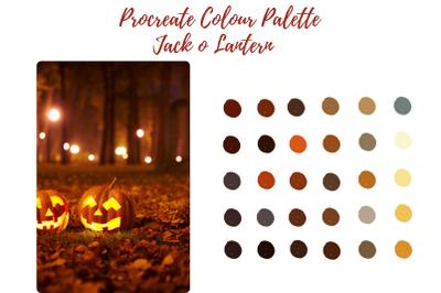 Jack o Lantern - Pumpkin Procreate Palette/ Swatch