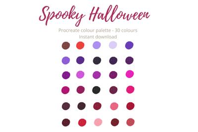 Spooky Halloween Procreate Palette/Swatch