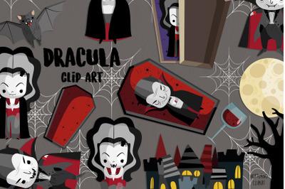 Dracula SVG Clipart   Set of 29
