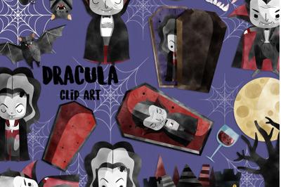 Watercolor Dracula Clipart   Set of 30