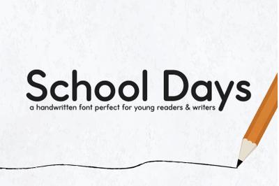 School Days Font