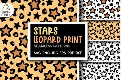 Stars leopard print svg Leopard pattern svg Star pattern Cute patterns
