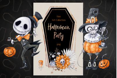 Halloween Party. Digital Clipart for Halloween.