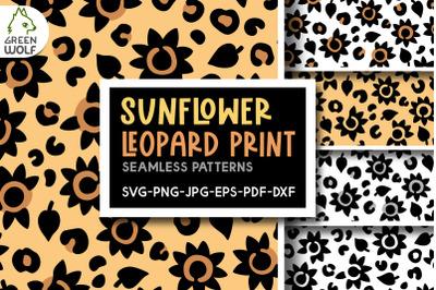 Sunflower leopard print svg Sunflower pattern Leopard pattern svg