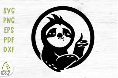 Lazy sloth svg Sloth vinyl decals svg Cute animal svg file for cricut
