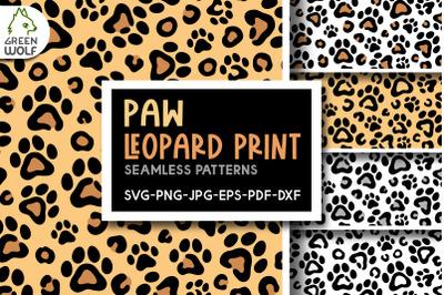 Paw leopard print svg Cat paw pattern svg Leopard pattern svg files