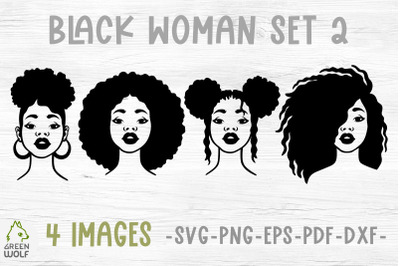 Black woman svg Juneteenth svg bundle Afro women svg Afro puff svg