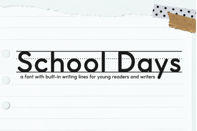 School Days Handwriting Lines Font