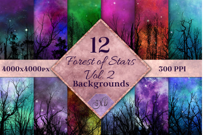 Forest of Stars Vol. 2 Backgrounds - 12 Image Textures Set